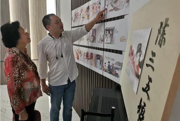 姚璇秋莅临童的图书馆指导潮剧非遗绘本创作